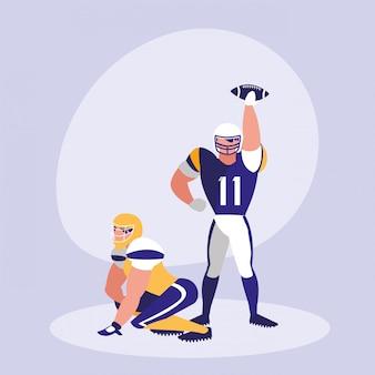アメリカンフットボール選手の男性