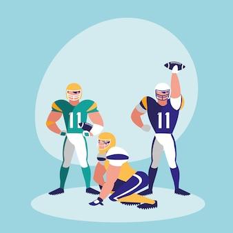 アメリカンフットボールチームのキャラクター