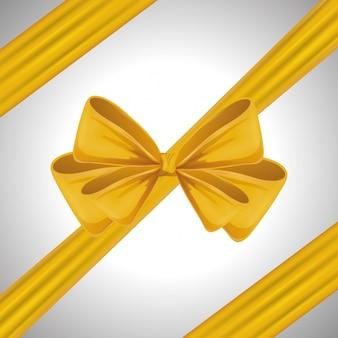 黄色いリボンボウタイ装飾