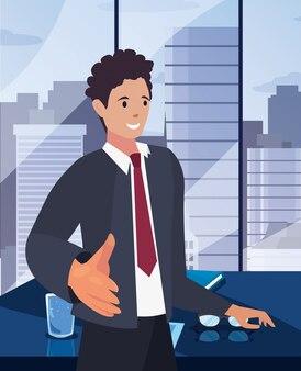 Иллюстрация дизайна персонажа рукопожатия плоская