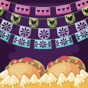 Эскиз мексиканской говядины со свежими овощами