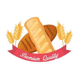 パンのプレミアム品質小麦栄養食品