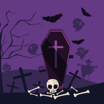 ハロウィーン墓漫画