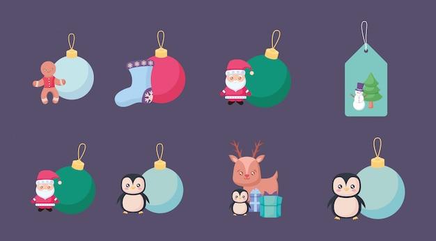 アイコンセットとクリスマスのバンドル