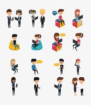 Коллекция людей без лица