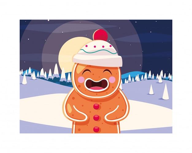 メリークリスマスジンジャーブレッドマン