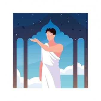 Человек паломник хадж стоит, день зуль хиджа