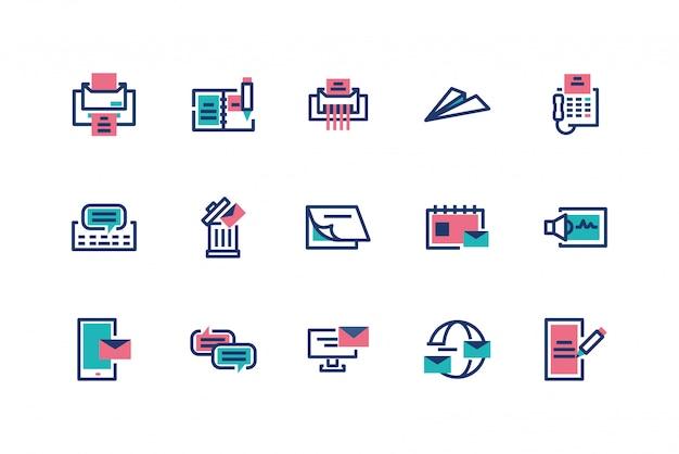 Изолированный дизайн иконок сообщений