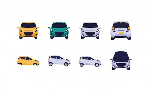 Набор изолированных автомобилей