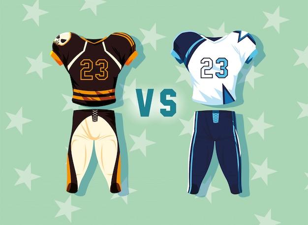 アメリカンフットボール選手の衣装スポーツスーツ