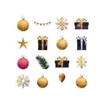 メリークリスマスパインツリーの図