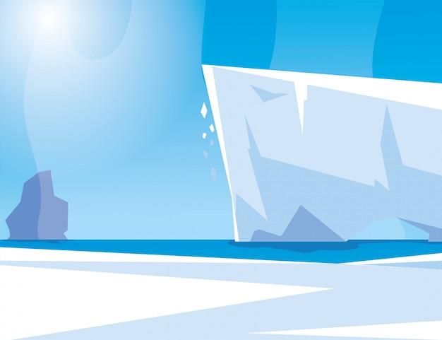青い空と氷山、北極の北極の風景