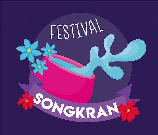 Карточка фестиваля сонгкран в таиланде