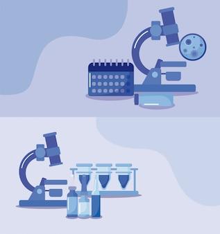 Плакат с иконами прививок и здоровья, медицинской иммунизации