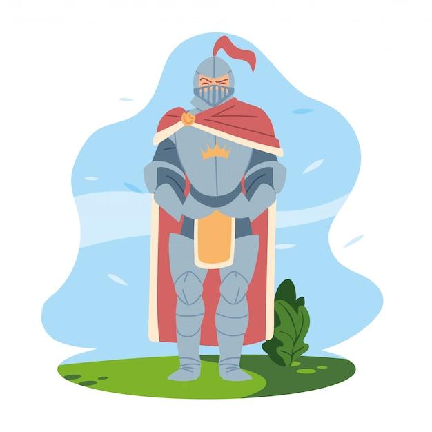 王国とおとぎ話の鎧のデザインを持つ中世の騎士