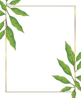 枝の装飾が施されたゴールデンフレーム