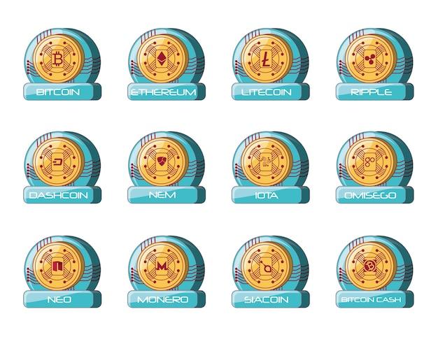 Символы криптовалютного дизайна