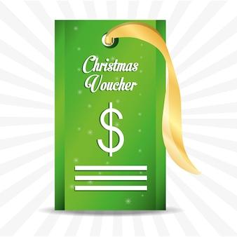 お金のサインアイコンのクリスマスバウチャー