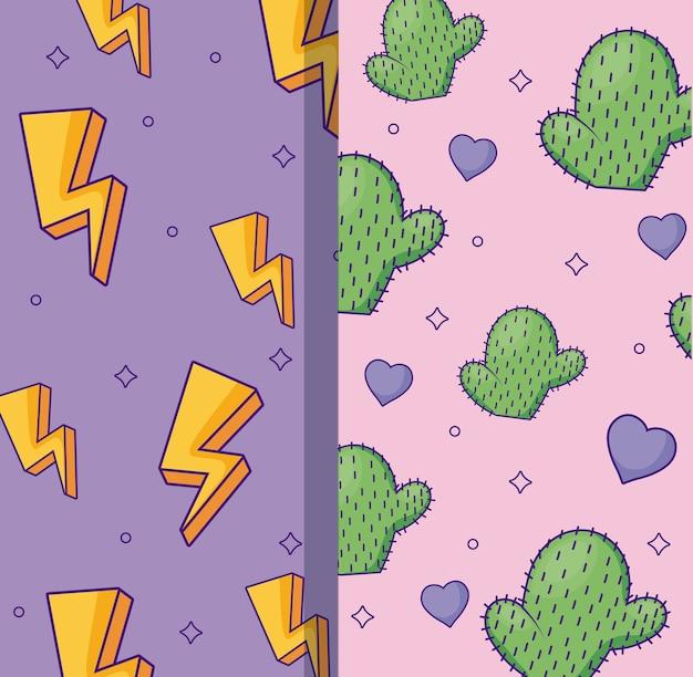 雷鳴とサボテンのパターン
