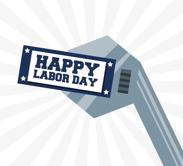 労働日を祝うための建設ツール