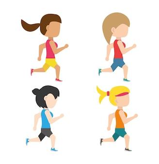 競技選手権で走っている選手