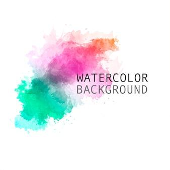 美しい手描きの虹の水彩画の背景