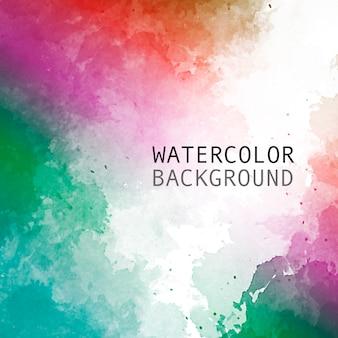 テキスト用のスペースと虹色の水彩画の背景