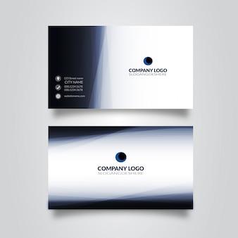 Двухсторонний синий шаблон визитной карточки