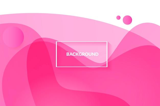 美しい液体の流体と抽象的なピンクの背景