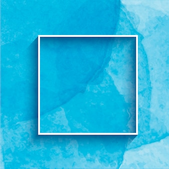 Ручная роспись акварель фон с рамкой