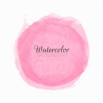 ピンクの水彩絵の具の汚れ背景