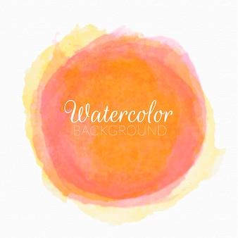 手描きの水彩画サークルベクトル