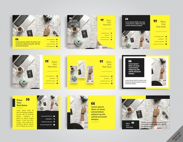 Корпоративный макет желтой книги