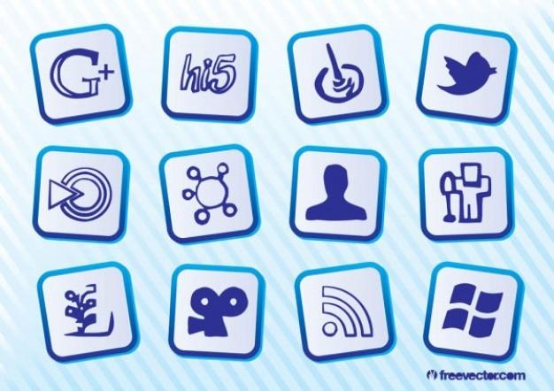 無料のソーシャルメディアのアイコン