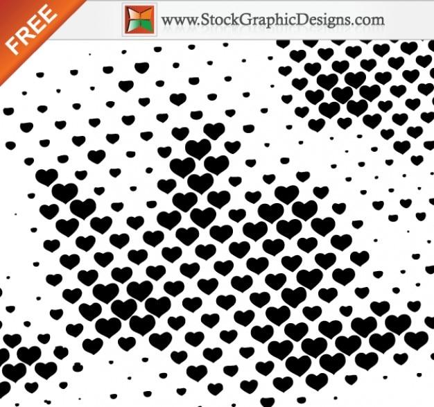 ハーフトーンハーツフリーのベクトルのデザイン要素