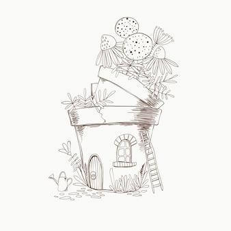 漫画の花瓶