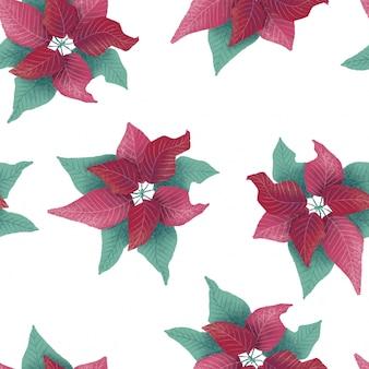 クリスマスの花のパターン