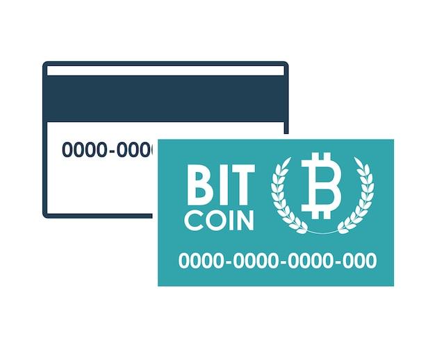 Концепция глобальной экономики с дизайном иконки биткойнов