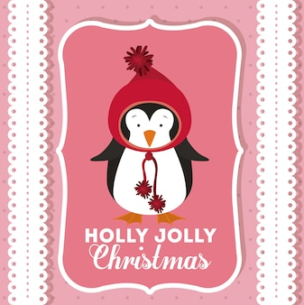 デコレーションアイコン付きのメリークリスマスのコンセプト