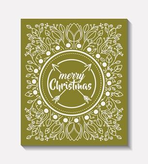 メリークリスマスフレームヴィンテージスタイル