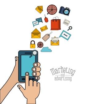 スマートフォン要素のウェブマーケティングと広告