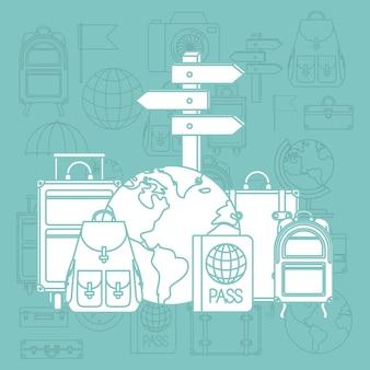 世界を旅して、アイコンを設定する