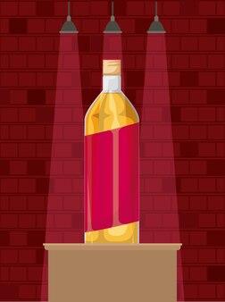 最高の飲み物のボトルのアルコールアイコン