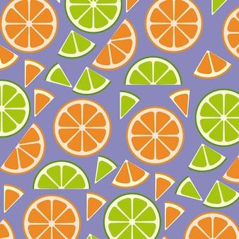 柑橘類のスライスパターンの背景
