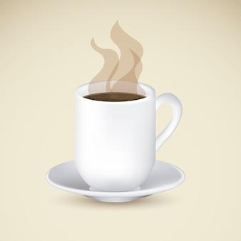 コーヒーアイコンとラベル