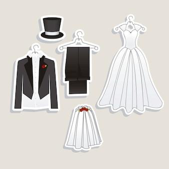 結婚式のアイコン