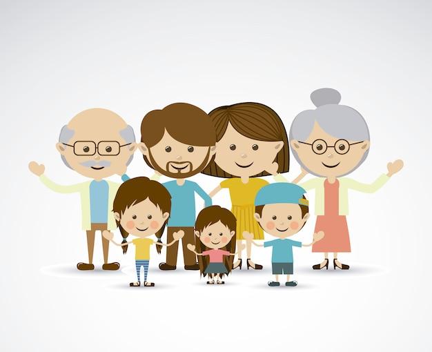 異なる家族