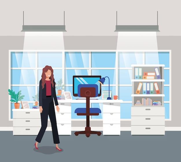 現代のオフィス、実業家