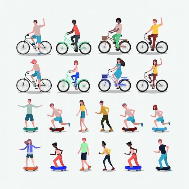 スポーツを練習する人々のグループ