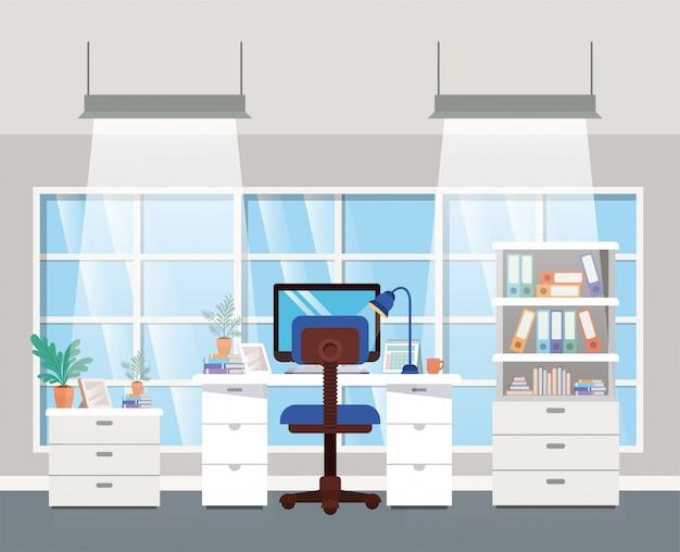 現代のオフィスボスシーン